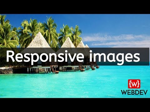 how to create responsive images using html and css