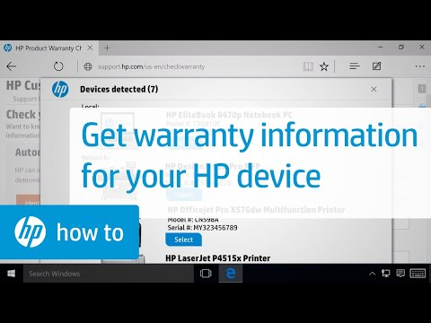 Finding the Warranty Information for Your HP Product from the HP Support Website