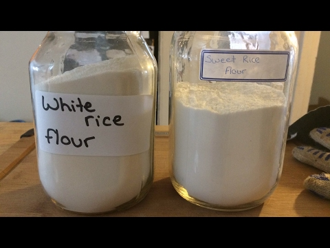 Making White Rice Flour - Who knew it was this easy!