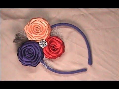 DIY Ribbon Roses Headband Fascinator, How to make