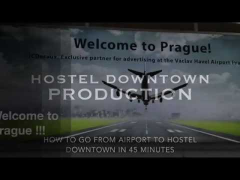 How to go from Airport to Hostel Downtown Prague