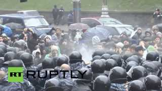 Ukraine: Police Use Tear Gas In Kiev Clashes