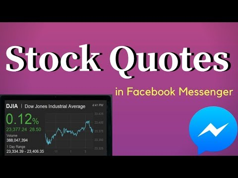 How to Get Stock Quotes in Facebook Messenger