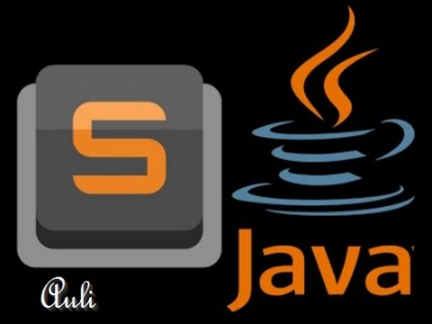 How to setup Java in Sublime Text 3 - (OS - Windows)