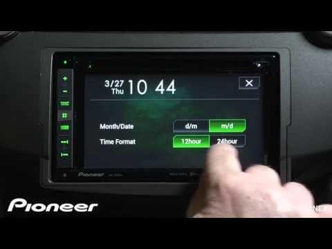 How To - AVIC-5000NEX - Set The Clock