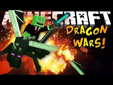 Minecraft: DRAGON WARS Mini-Game - Riding An Ender Dragon!