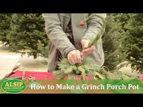 How to Make a Grinch Porch Pot - Tutorial