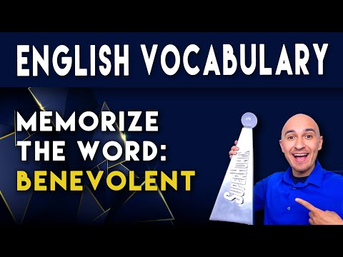 📖 College Vocabulary Words - BENEVOLENT | How to Memorize SAT English Vocab Fast for Students