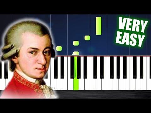 Mozart - Eine kleine Nachtmusik - VERY EASY Piano Tutorial by PlutaX