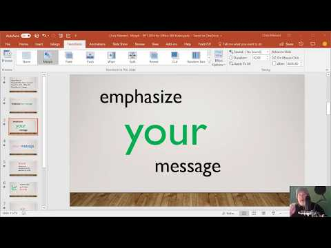 Morph Transition with words and characters in PowerPoint 2016 by Chris Menard