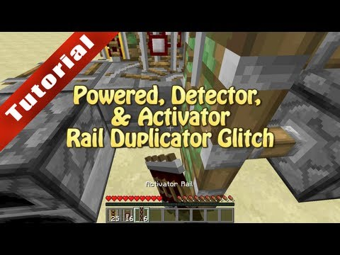 Minecraft Tutorial: Powered/Detector/Activator Rail Duplicator (Works in 1.5.2 and 1.6 snapshots)