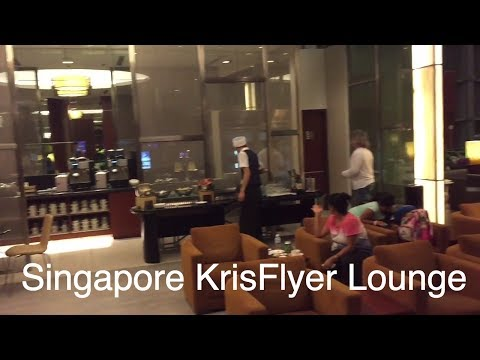 Singapore Airlines KrisFlyer lounge in Changi Airport terminals 2 and 3