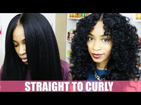 How to Curl Synthetic Hair- Natural Hair Kinky Straight Wig