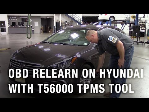 OBD relearn on Hyundai with the T56000 TPMS Tool