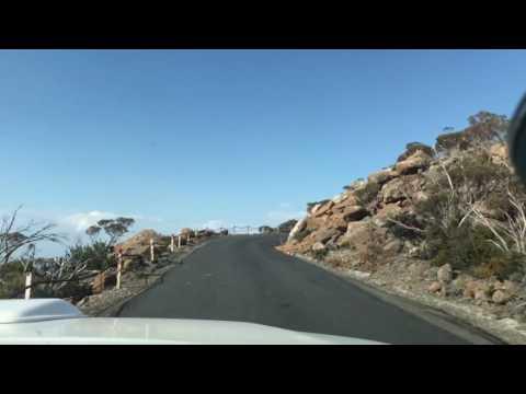 Drive up Mt Wellington, Hobart