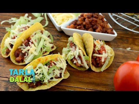 Tacos/  Veg Mexican Bean Tacos Recipe by Tarla Dalal