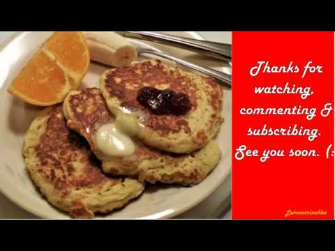 ~ oatmeal pancakes: a 'cooking for one' recipe ~