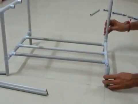 DIY : How to make shoes stand using PVC Pipe