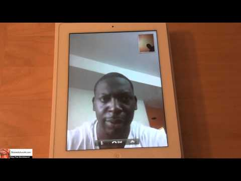 FaceTime on the iPad 2.| Booredatwork