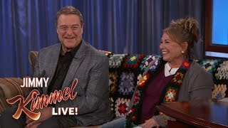 Roseanne Barr & John Goodman Address Writers