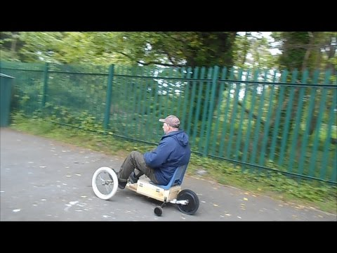DIY cheap electric  go- kart from recycled wood