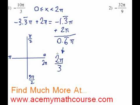 Trigonometry - Find the Reference Angle (Radians) - Quick Explanation!