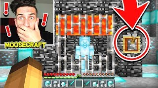 TRAPPING DIAMOND STEVE IN MINECRAFT! (WORKED!!)
