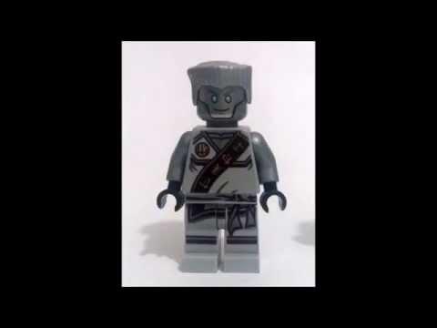 Custom LEGO Ninjago minifigure: Titanium Zane/Zane 2.0 tournament robe