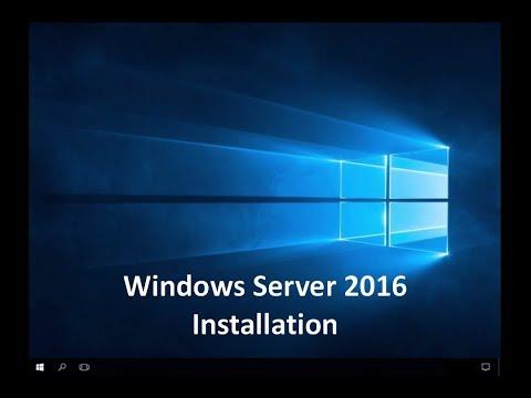 Windows Server 2016 - Installation