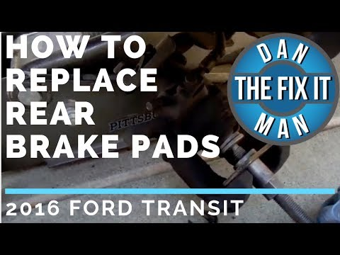 2016 Ford Transit - How to Replace Rear Brake Pads - DIY