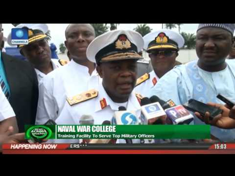 News Across Nigeria: Nigerian Defense Chief Commissions Naval College In rivers State