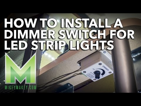 How to Install a Dimmer Switch for LED Strip Lights - My Desk Lighting Project Update!