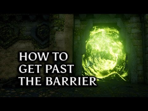 Dragon Age: Inquisition - Jaws of Hakkon DLC - How to get past the Barrier in 'On Ameridan's Trail'