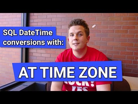 Time zone conversions with SQL Server's AT TIME ZONE