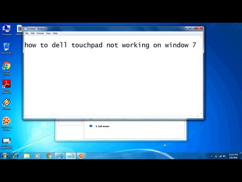 dell touchpad not working