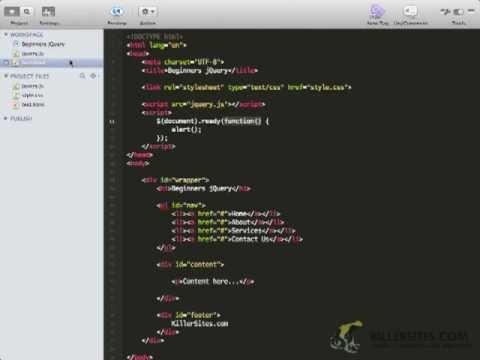 Beginners jQuery - Your first jQuery script