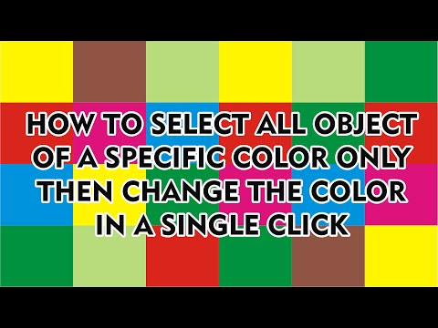 How to select all Objects of a Specific Color  and change the color in a single click