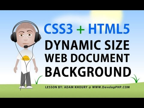 CSS3 html5 Perfict Fit Background Tutorial background-size Scale Stretch Image