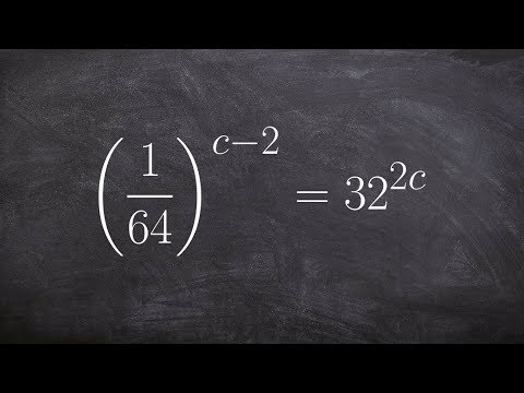 Solving an exponential equation with negative exponents