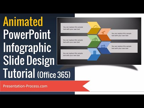 Animated PowerPoint Infographic Slide Design Tutorial (Office 365)