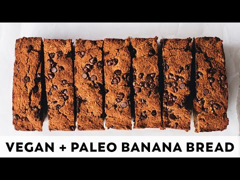 Chocolate Chip Banana Bread // vegan, paleo, refined sugar free
