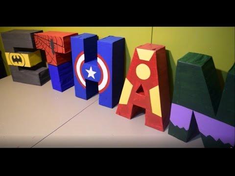 3D superhero letters 🗯 letras 3D de superheroes 👊