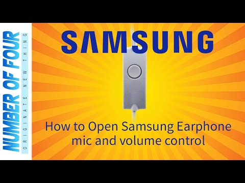 How to Open Samsung earphone mic and volume control [ SAMSUNG J series ]