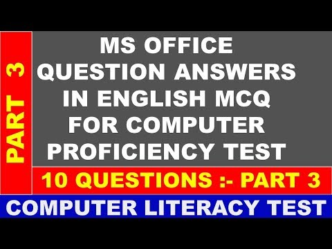 COMPUTER PROFICIENCY TEST QUESTION ANSWERS PART 3 MS WORD MCQ FOR CLT