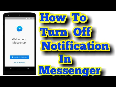 How To Turn Off Notification in Facebook Messenger