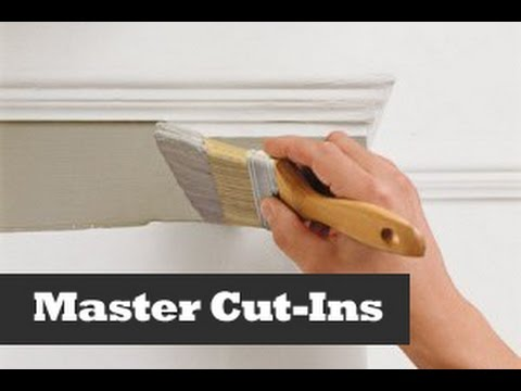 Perfect Ceiling Cut Ins.  Painting A Straight Line On A Wall.  How to cut in paint edges.