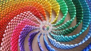 THE AMAZING RAINBOW SPIRAL (12,000 DOMINOES)