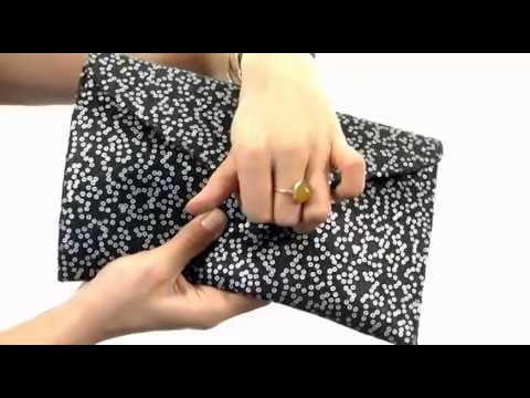 Franchi Handbags - La Sera Wool Sequin Envelope Clutch SKU:# 8246736