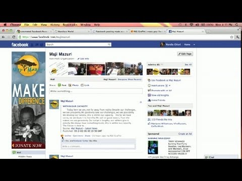 How to Auto Feed Statuses to Facebook : Social Media Simplified