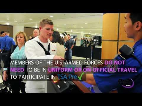 TSA Precheck is a Military Benefit